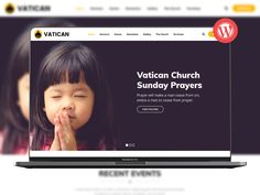 Vatican - Church WordPress Theme by ModelTheme on Dribbble Email Newsletter Design, Email Newsletters, Sunday Prayer, Html Email, Vatican, Wordpress Theme, Sketch, Website, Sketch Drawing