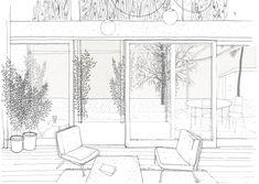 Drawing an Evocative Non Finito Oblò Archit… Draw Diagram, Conceptual Drawing, Architecture Graphics, Architecture Visualization, Monochrome, Sketches, Black And White, Image, Presentation