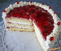KORPUS :Z bílků vyšleháme tuhý sníh,zašleháme do něj žloutky a cukr.Nakonec pomalu zašleháme polohru... Cake Decorating For Beginners, Pavlova, Sweet And Salty, Nutella, Tiramisu, Cupcake Cakes, Tart, Cheesecake, Food And Drink