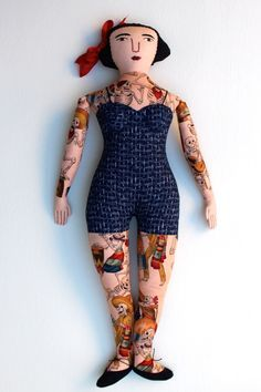 how to make a tattoo doll sewing - Google Search