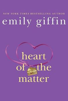 Heart of the Matter by Emily Griffin (Read Jan 2012) --- Not my fave but hey, who can pass up hardbacks on clearance at B???