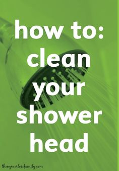 Easily clean your shower head  with products you already have in your home with this cleaning hack.