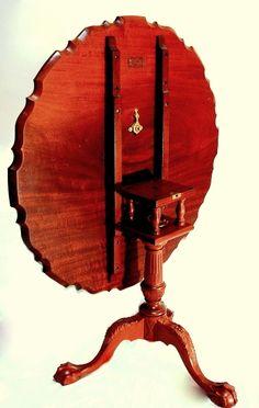 Chippendale Tilt Top Tea Table - on my want list.