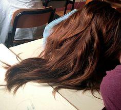 Hair brown red orange shool beautiful