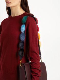 Anya Hindmarch Rainbow pompoms shoulder-strap