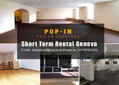 Book a Short Term Rental space in Geneva to expand your business so you can get more customers in a short period of time. Instead of opening a proper shop you can rent a short term space for selling your products. Rental Space, Popup, Growing Your Business, Retail Design, Geneva, Period, Real Estate, Store, Book