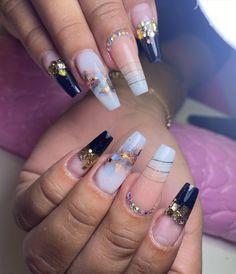 Pink Glitter Nails, Glam Nails, Bling Nails, Beauty Nails, Cute Acrylic Nail Designs, Ombre Nail Designs, Cute Acrylic Nails, Nail Art Designs, Sassy Nails