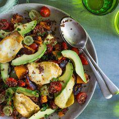 Avocado, Pumpkin and Haloumi Quinoa Salad | Nadia Lim