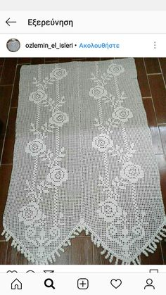 Rugs, Home Decor, Farmhouse Rugs, Crafts, Fantasy, Crochet Tablecloth, Net Curtains, Manualidades, Blinds