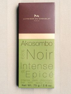 Maison du Chocolate Akosombo 68% has a great melt and complex flavor. Notes of cherry, almond, cinnamon, and vanilla.