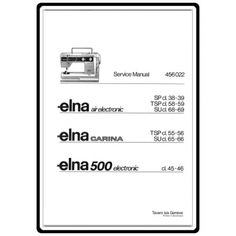 Elna Sewing Machine Manual Download    Elna Su Sewing Machine