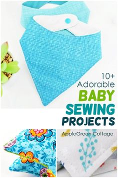 The cutest sewing projects for baby - you'll want these great baby sewing ideas NOW! Here are more than 10 baby sewing projects, from baby bibs, burp cloths, diaper clutches, and more. Check out all the things to sew for baby with these easy baby sewing projects, from baby bibs, burp cloths, diaper clutches, baby toys, storage for baby nursery and more. Check out all the things to sew for baby. #babynursery #sewing Cute Sewing Projects, Sewing Tutorials, Sewing Ideas, Diaper Clutch, Baby Bibs, Burp Cloths, Pdf Sewing Patterns, Free Sewing, Cute Babies