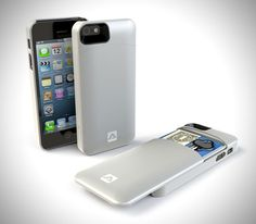 Iphone case with storage. Back slides down and you can store money, credit cards, keys or anything!