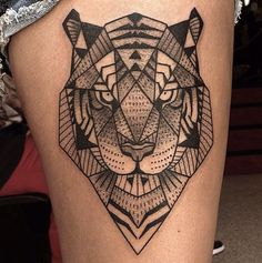 geometric tattoo tiger