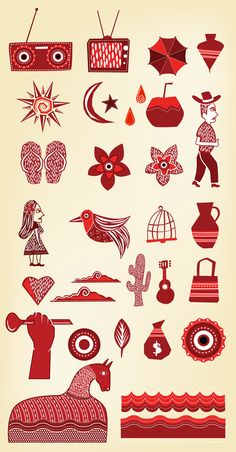 "Cordel Icons. Image typical of Brazilian ""literatura de cordel"". Low budget publishing - pamphlet-like books with amazing woodcut print covers."