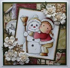Het kaartenhoekje van Gretha: Snowy hug