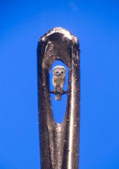 Micro-sculpture by @Willard Wigan