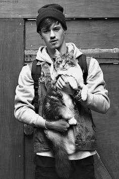Hot guys and cats. Whoa. A little to much to handle.