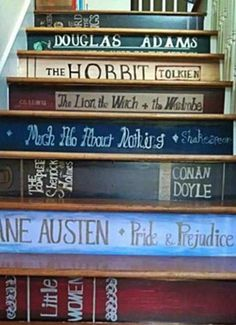 Book-stairs - Perfect for when we rip out the upstairs carpet