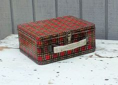 Vintage Plaid Lunchbox by Ohio Art by theindustrycottage on Etsy