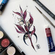Cute Tattoos, Beautiful Tattoos, Flower Tattoos, Body Art Tattoos, Tattoo Drawings, Belladonna Flower, Nouveau Tattoo, Candle Tattoo, Tattoo Graphic