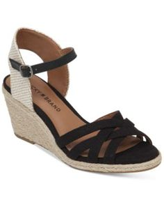 Lucky Brand Women's Kalley Cross Band Wedge Sandals | macys.com