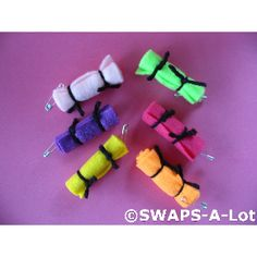 SWAPS-A-Lot - Mini Bright BED ROLLS SWAP SWAPS Kit for Girl Kids Scout 100