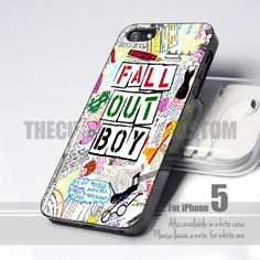 Fall Out Boy iPhone 5,5s,5c leave a message | thecustom - Accessories on ArtFire