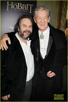 Director Peter Jackson & Ian McKellen at Premiere of The Hobbit An Unexpected Journey at the Ziegfeld Theatre in New York City (6-12-12) Thursday