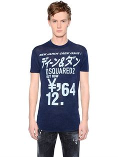 f305a81d74388 DSQUARED2 New Japan Crew Printed Jersey T-Shirt