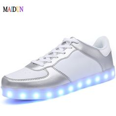 Mens LED Shoes for Adults Dance Shoes 8 colors Light Shining LED USB Chargeable Electric Shoes Dancing with Lights Zapatos Mujer