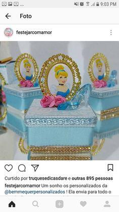 Cinderella Sweet 16, Edible Arrangements, Cake Creations, Party Printables, Best Part Of Me, Toy Chest, Snow Globes, Decorative Boxes, Barbie