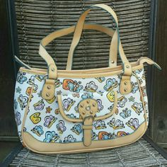"""Butterfly Purse / Bag NWOT New, never used vinyl bag with cute butterflies and the letter B. Textured vinyl so it's easy to clean. Measurements: 12.5"""" x 8"""", strap drop 11"""" Bags Shoulder Bags"""