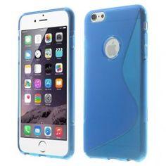iPhone 6 plus sininen silikonisuojus.