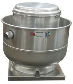 Extractor tipo hongo fabricado en aleaciones de aluminio, presenta alta eficiencia dentro del tipo de ventiladores centrífugos especial para descargas de aire en instalaciones de campanas industriales, no se produce turbulencia debido e su estructura aerodinámica. Incluye motor monofasico a 220V o trifasico a 220V.