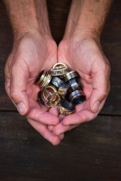 A handful of #rawelegance. Photo taken by @Robert's Gem Shop.