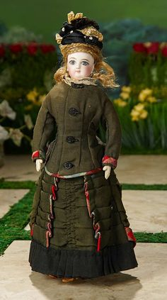 """""""I Only Wanted to Wonder"""" - August 1, 2017: 246 French Bisque Poupee, Size 0, by Jumeau with Original Wig and Costume"""