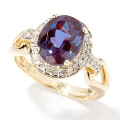 alexandrite ring -  need this set in white gold or platinum