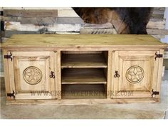 "Shop for Million Dollar Rustic 60"" TV Stand $399, 04-13DTX, and other Living Room Entertainment Centers at CBS Furniture in Cleveland TX, Baytown TX. One of our top-selling TV stands! Available with or without stars.     Shelves measure 6""H x 17.5""W x 19""D."