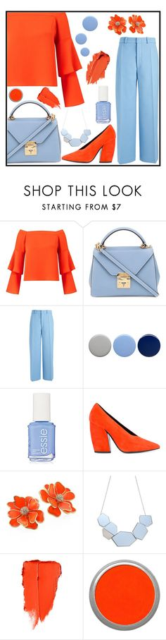 """""""Passion for Fashion"""" by chelseachilibean ❤ liked on Polyvore featuring Miss Selfridge, Mark Cross, Joseph, Burberry, Essie, Pierre Hardy, Kenneth Jay Lane and Suva Beauty"""