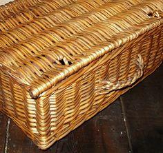 Vintage Storage Basket Madeira Portugal Handmade of by Avaricia, $29.99