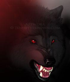 Rawr - Jennette Brown Digital Fantasy - Wolves and Werewolves
