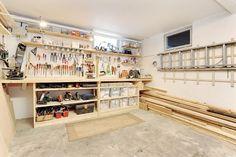 Organized garage shop