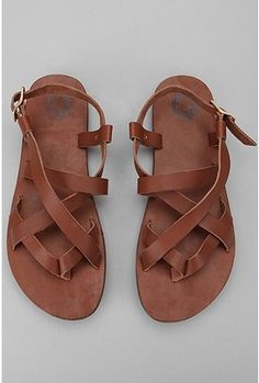 Leather Strap Sandal – Urban Outfitters, $38 I need these.