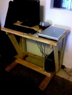 A mobile computer desk. - CLICK TO ENLARGE