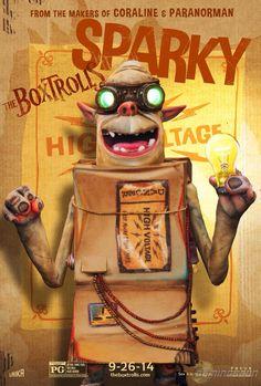 Nuevo poster de Sparky, uno de Los Boxtrolls. Trailer español: http://evpo.st/1tWr1Wt algo se mueve bajo tierra ...