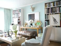 Family room, mint green : James Andrew