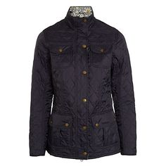 Buy Barbour Manderston Quilted Jacket, Navy Online at johnlewis.com