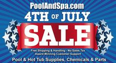 Get that pool or hot tub ready for summer fun! Check out our Pool And Hot Tub Supply Deals For 4th Of July! Save on chemicals, supplies, parts and accessories. Fast free shipping too. Get $200 worth of online coupons you can use on your order today! This week only at PoolAndSpa.com. Going On Holiday, Holiday Fun, Travel Tours, Travel Ideas, Pool Floats, Online Coupons, Cool Gear, Word Up, Summer Fun