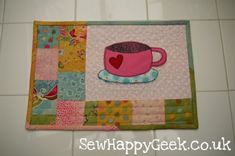 Mug Rug Pattern Free Size | Here are some other great ideas and tutorials for making mug rugs ...